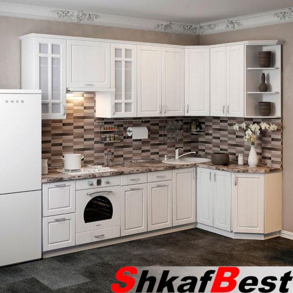 Кухня-с-высокими-шкафами